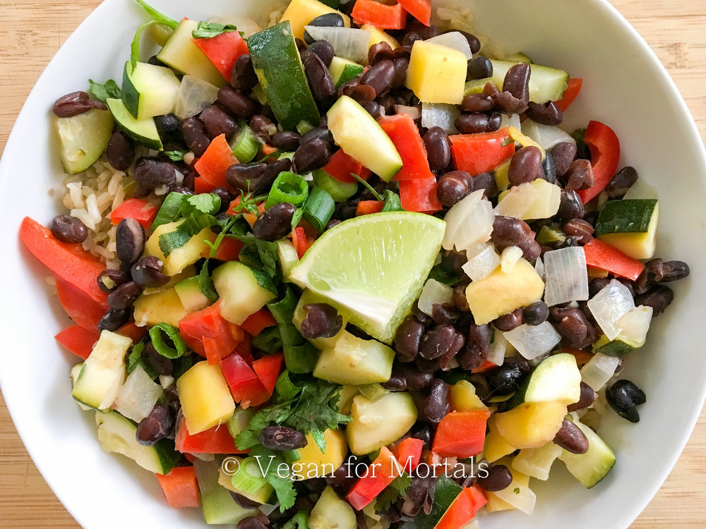 Coconut Black Beans & Rice