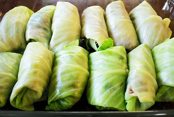 Cabbage Rolls - I'm channeling my Polish Grandmother on this one and I think I've finally perfected the cabbage roll after multiple tries. Its filled with brown rice, lentils, mushrooms, onions, and garlic and eventually topped with yummy tomato sauce. A super satisfying meal, give this a whirl and I'm sure you'll love it!