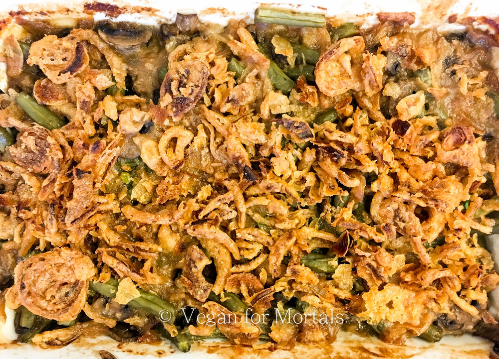 Green Bean Casserole - This is probably my FAVORITE Thanksgiving dish. I've been working on how to finally recreate it without dairy and even the biggest Green Bean Casserole lovers will love this vegan version!