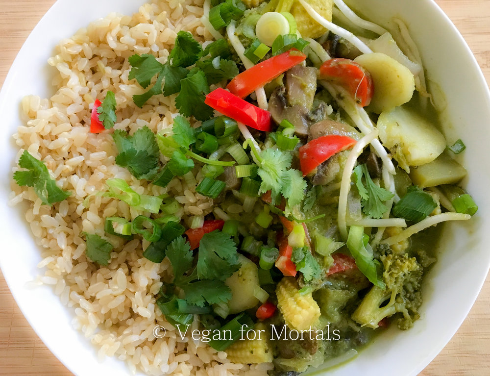 Thai Coconut Green Curry - This is a super easy recipe to make and full of amazing flavor. Need to pack in your greens for the day? This curry will take care of that!