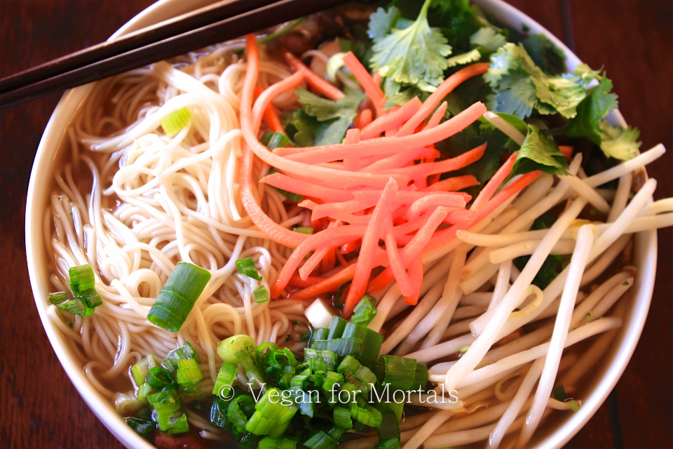 Japanese Noodle Bowl - I love this soup - its perfect for a chilly winter night and is super quick and simple to put together. You can have it as spicy or salty as you'd like with additional Sriracha and Soy Sauce!