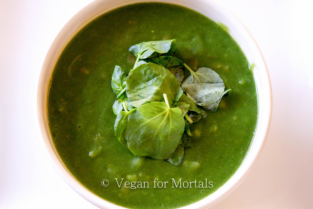 Winter Greens Soup - Need a little pick me up from a cold winter? This winter greens soup is a great antioxidant boost to your day. It takes about 45 minutes to make, but most of that time is just letting the vegetables cook!