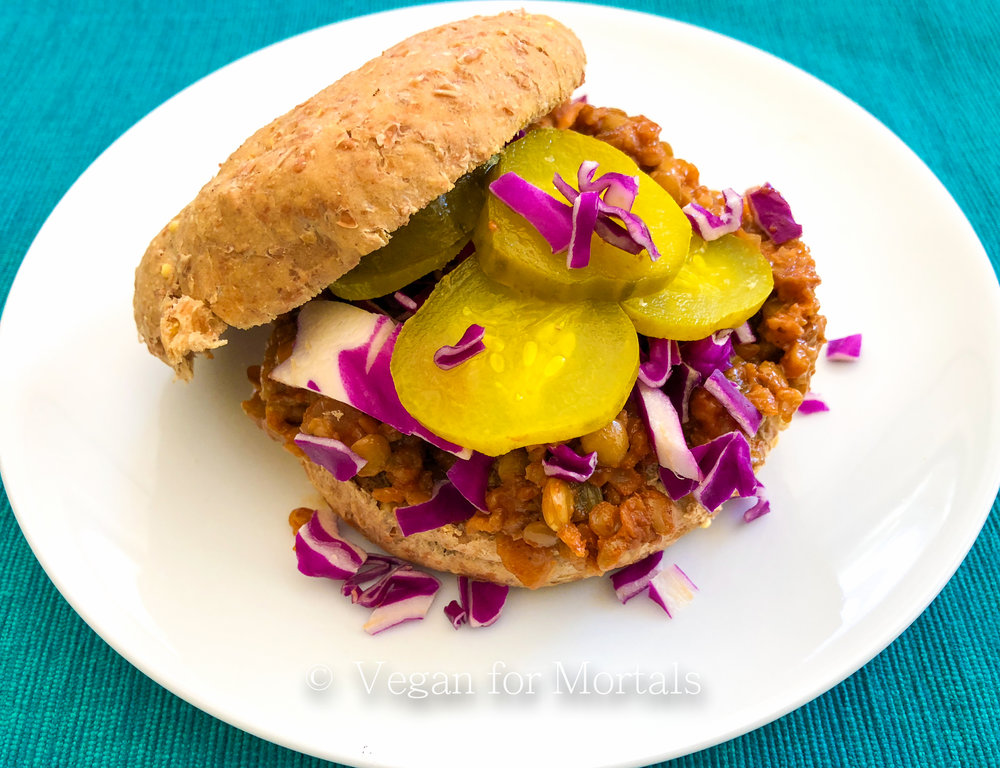 Super Sloppy Vegan BBQ Sammies