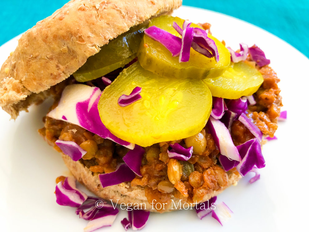 Super Sloppy Vegan BBQ Sammies - These sammies are quick to make and quick to eat! Don't forget - the messier the better!