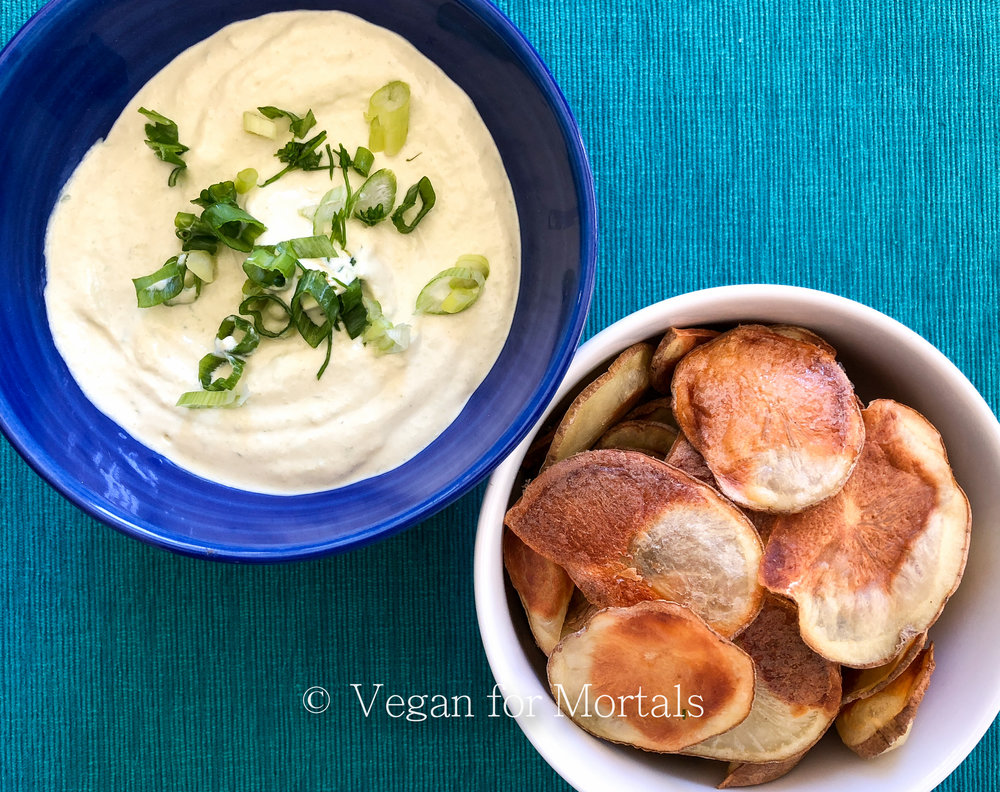 Baked Potato Chips & Onion Dip