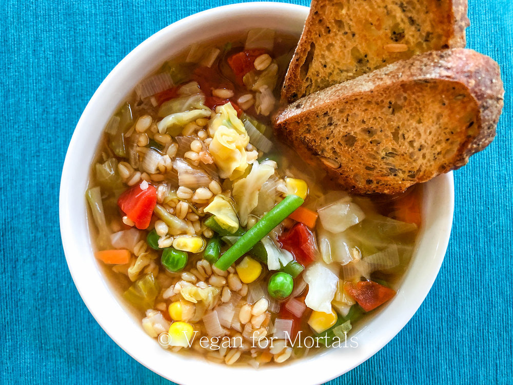 Vegetable Barley Soup - As a kid the meat version of this soup was always my favorite and my grandma always made it the best. I've converted this to being all vegan and it still is one of my absolute favorite soups! Fresh, filling, and so yummy!