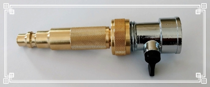 The Dual Purpose Adjustable Nozzle Coupled with a Shut off valve