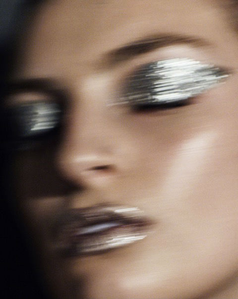 EYES:  Mehron Metallic Powder in Silver mixed with Mehron Metallic Mixing Liquid  LIPS : Mehron Metallic Powder in Rose and Silver mixed with Smith's Rose Bud Salve.