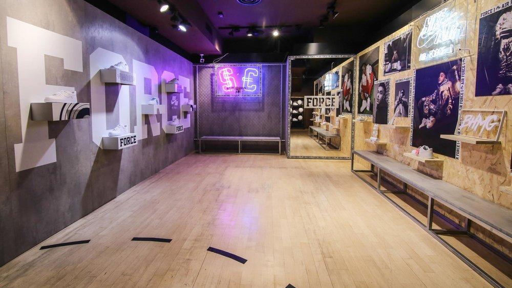 Sfera Ebbasta for Nike AF1 Installation,Foot Locker Milano, 2017