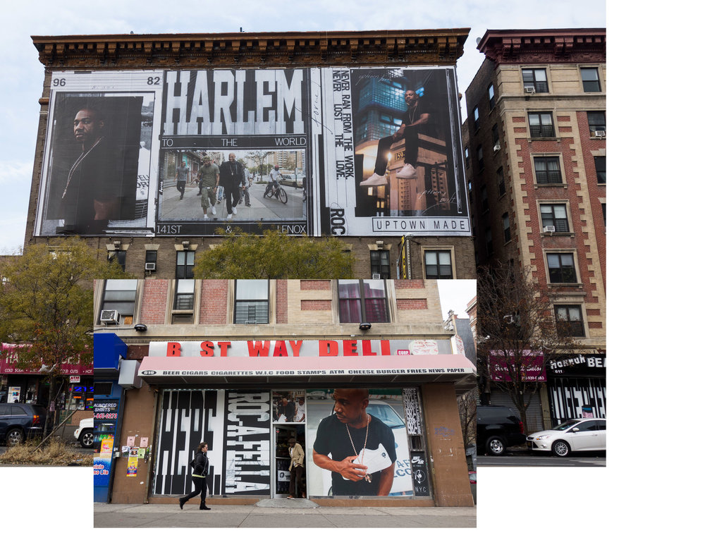 "Kareem ""Biggs"" Burke for Nike AF100 Campaign, ""Harlem to the World"" Installation, Harlem, NY, 2017"