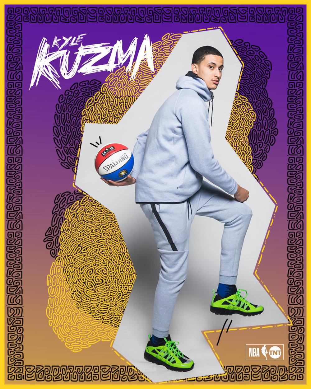 Kyle Kuzma for NBA TNT, All Star Weekend 2018