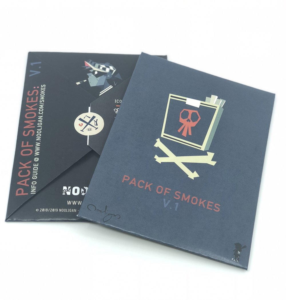 pack of smokes v.1 (collectible trading cards)  - limited availability  - pdf checklist  - info guide @ www.nooligan.com/smokes
