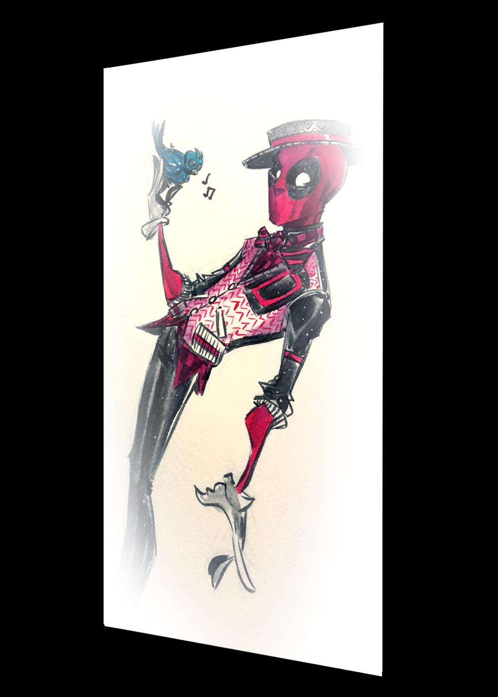 #sk95 - deadpool (super rare)