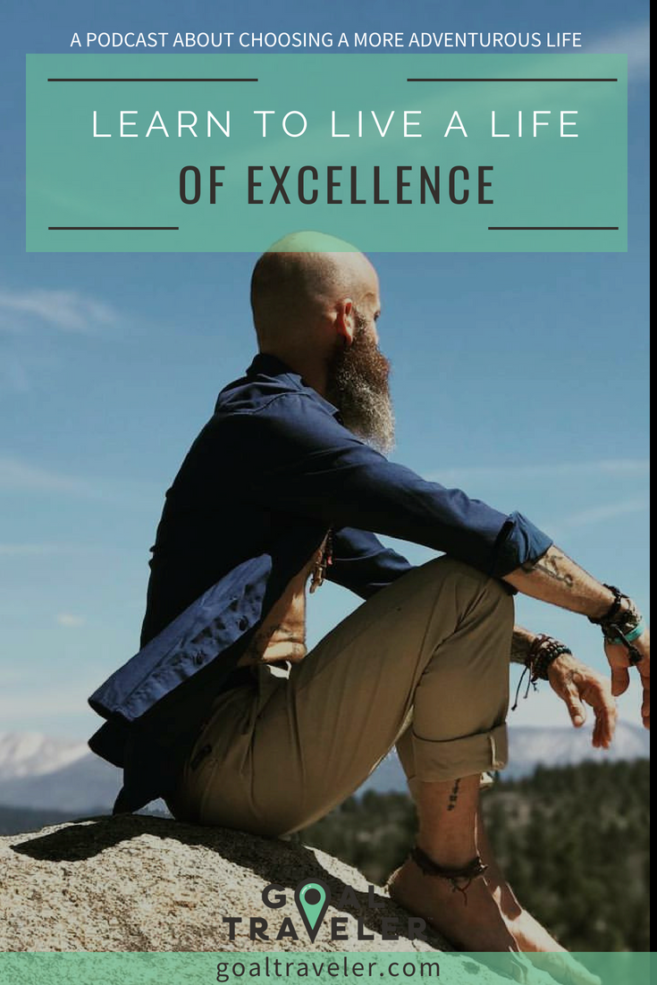 Learn to live a life of excellence on the podcast featuring Hug Your Chaos