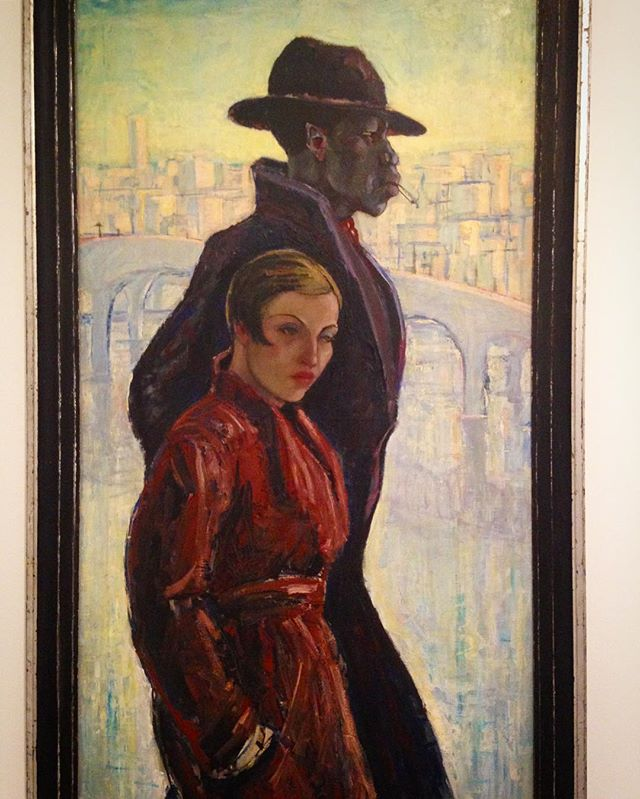 The Strange Couple, 1934 by Anja Decker. Paris / popular images of black culture had proliferated during roaring 20s. R artists challenges the viewer to confront societal attitudes about interracial relationships