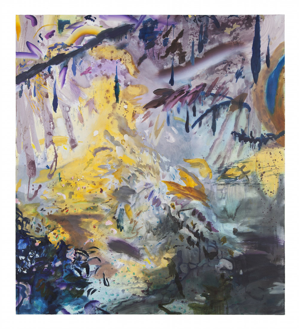 "wisteria hornet , oil and acrylic on canvas, 69"" x 77"", 2015"