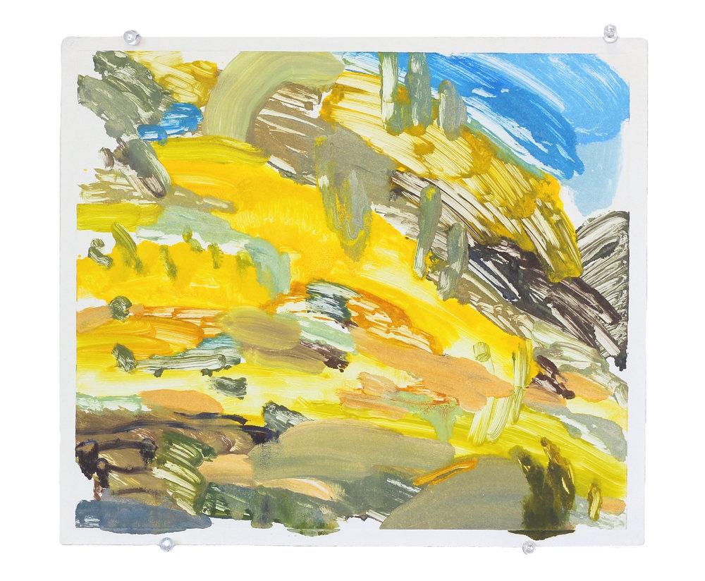 "dune melt , monoprint, 16"" x 14"", 2014"
