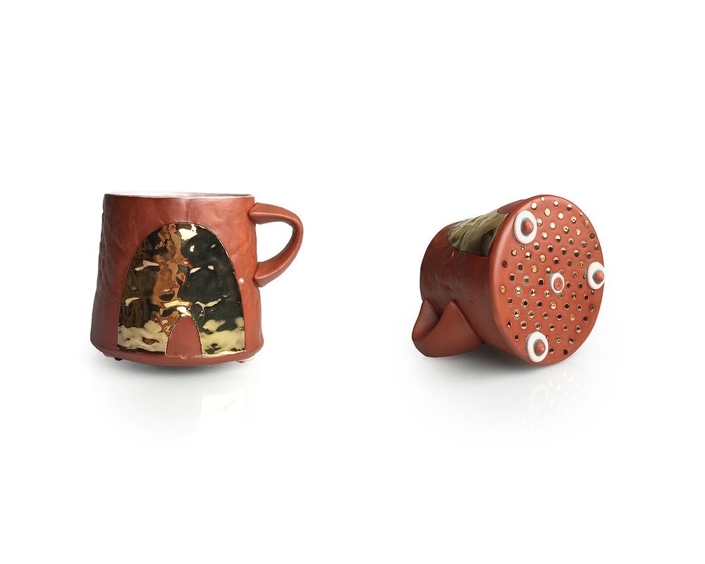 Didem Mert_Leathery Bling Arch Mug_2018_mid-range stoneware, terra sigs., slips, AMACO underglazes, glazes, washes, fired to cone 5 OX., lustre, fired to cone 018 OX._handbuilt.jpg