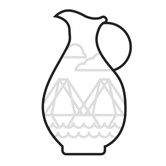 The Pitcher - When thinking of a vessel for our logo we decided on the pitcher. Using a ceramic vessel was important to us, but selecting what vessel was an obstacle; until we began reflecting upon our goals and vision. Symbolic of hospitality, service, and in ancient times (depending on your research) the pitcher also represents the human vessel being filled with knowledge and spirituality, as well as pouring and sharing ourselves with others.