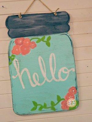 Kids Paint Together: Wooden Door Hanger Workshop — Niche