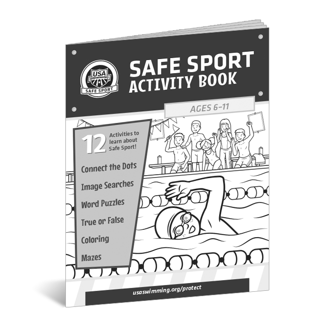 USA Swimming Safe Sport Activity Book 2017 - Client: USA SwimmingAD: Natalie ElzingaIllustrators: Thomas Boucher & Courtney Hicks(Click image for more.)