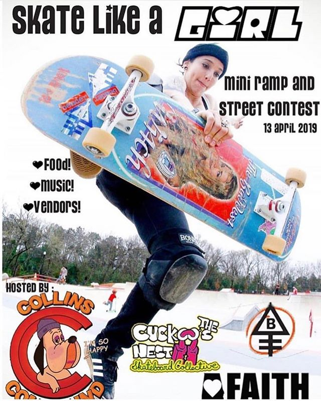 This weekend our friend in Macon, Ga are hosting an awesome event for the ladies! 👊 Girls skateboarding rules!  #faithskatesupply #collinscompound