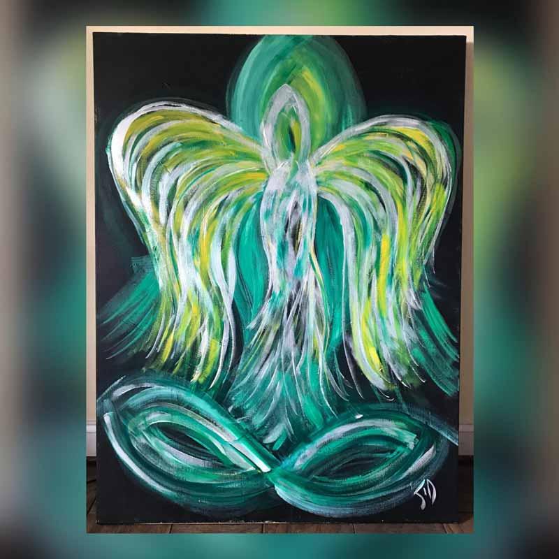 Angel of Healing - Painting measures 48
