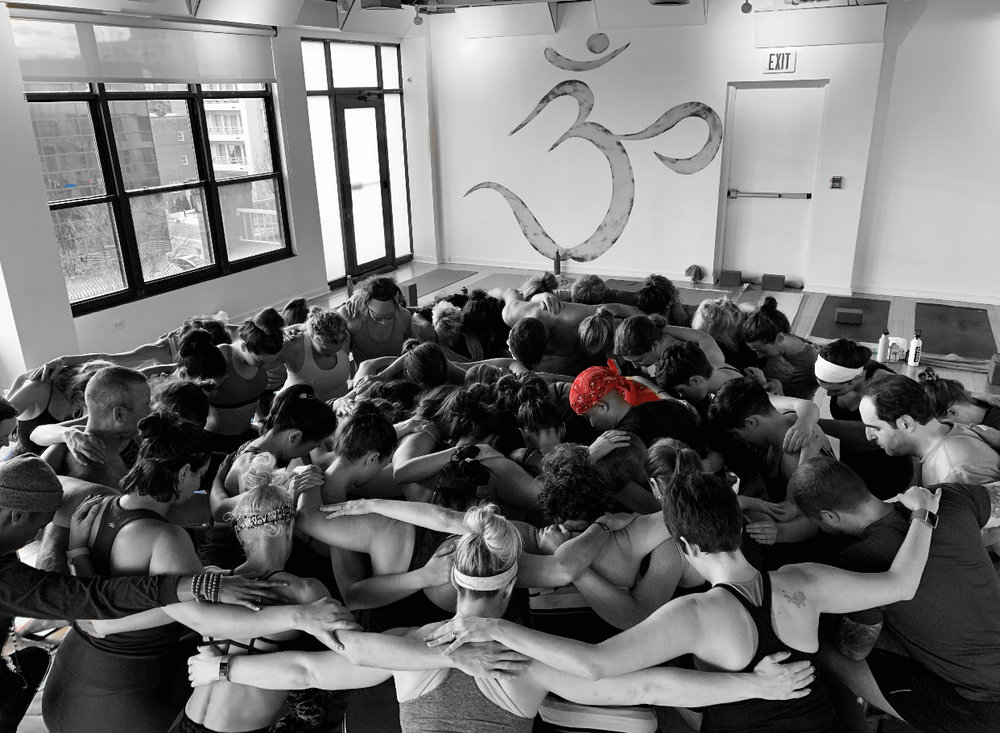 """""""We all come together drop to a knee and call in something greater than ourselves. We will win and find our way to peace."""""""