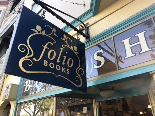 FOLIO BOOKS   Folio Books is located on 24th Street in the hip Noe Valley neighborhood of San Francisco and carries Shakesprints greeting cards.