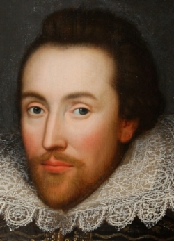 THE COBBE PORTRAIT PRESENTED IN 2009 BY THE SHAKESPEARE BIRTHPLACE TRUST AS AN AUTHENTIC IMAGE PAINTED FROM LIFE.