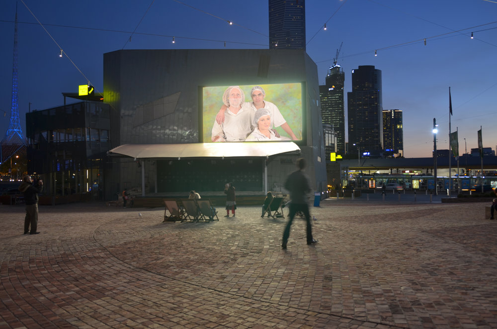 Friends , Screened at Federation Sq, Melbourne CBD
