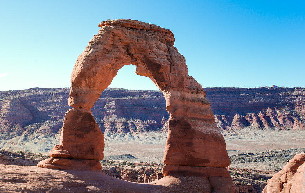 Otherworldly formations are found in and around Arches NP. This is delicate arch.
