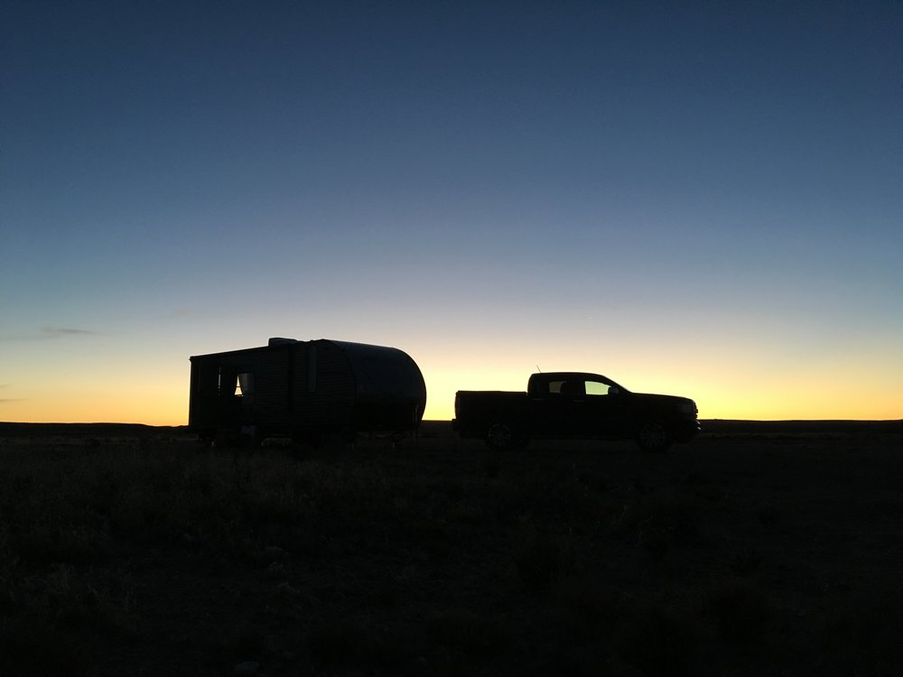 Our first time witnessing sunset over the vast New Mexico landscape.