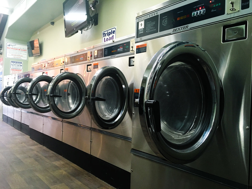 A laundromat in Moab, Utah. I could probably wash all the clothes I own in one of these!