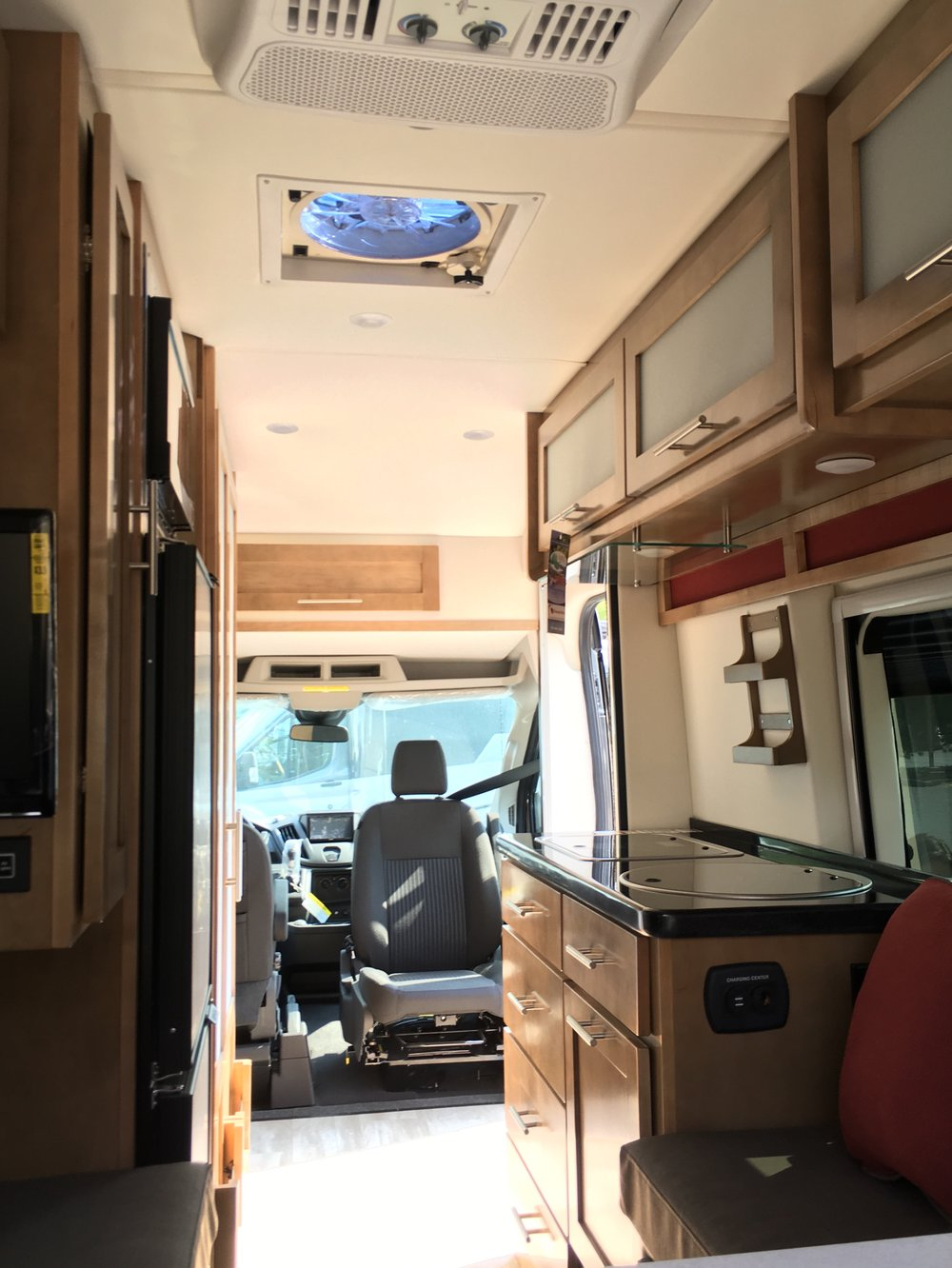 The galley in Class B motorhomes is tight! Space is the main tradeoff in Class Bs.