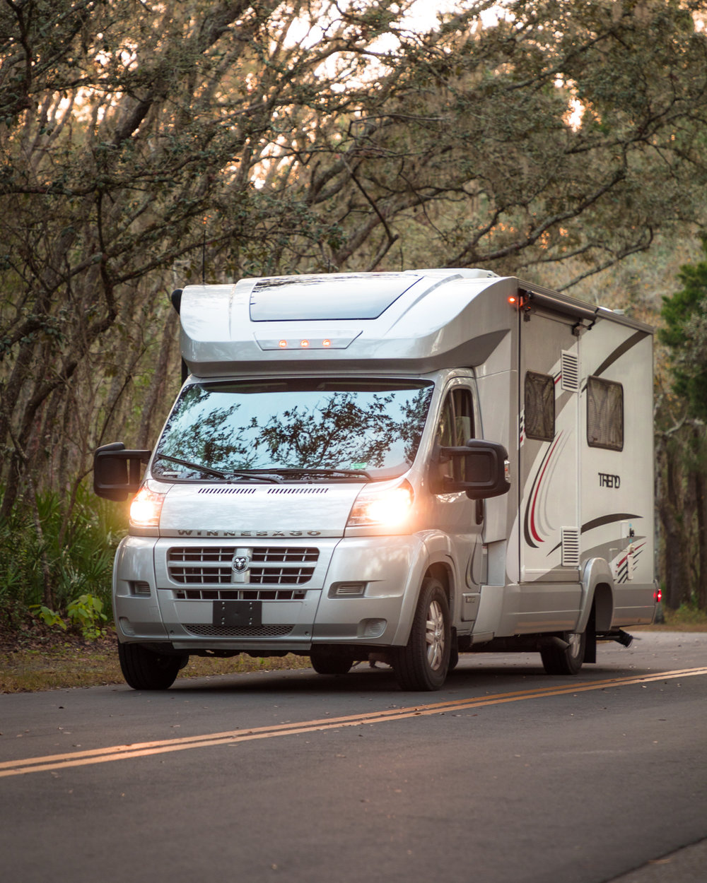 Loving the nimbleness of our new Class C Winnebago Trend!