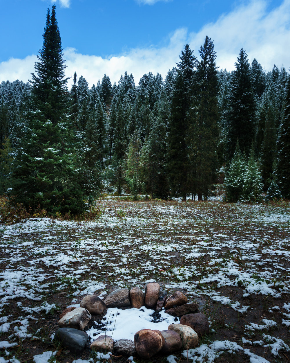 When you are driving US Forest Service roads, you will come across fire rings and know that you have likely found a great boondocking spot. This site on the west side of the Grand Tetons was one of our favorites.