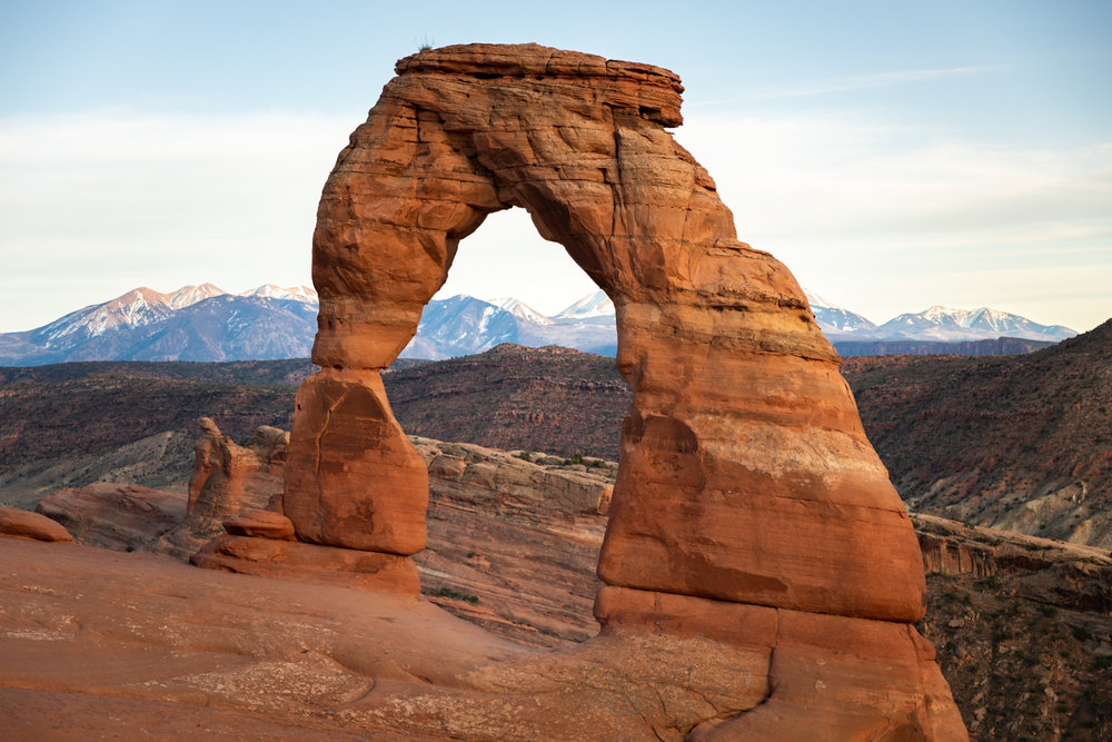 Get up close and personal with Delicate Arch by hiking the Delicate Arch trail. If you're short on time or feel the hike isn't a good match for your hiking ability, you can still see it from the Delicate Arch viewpoint.