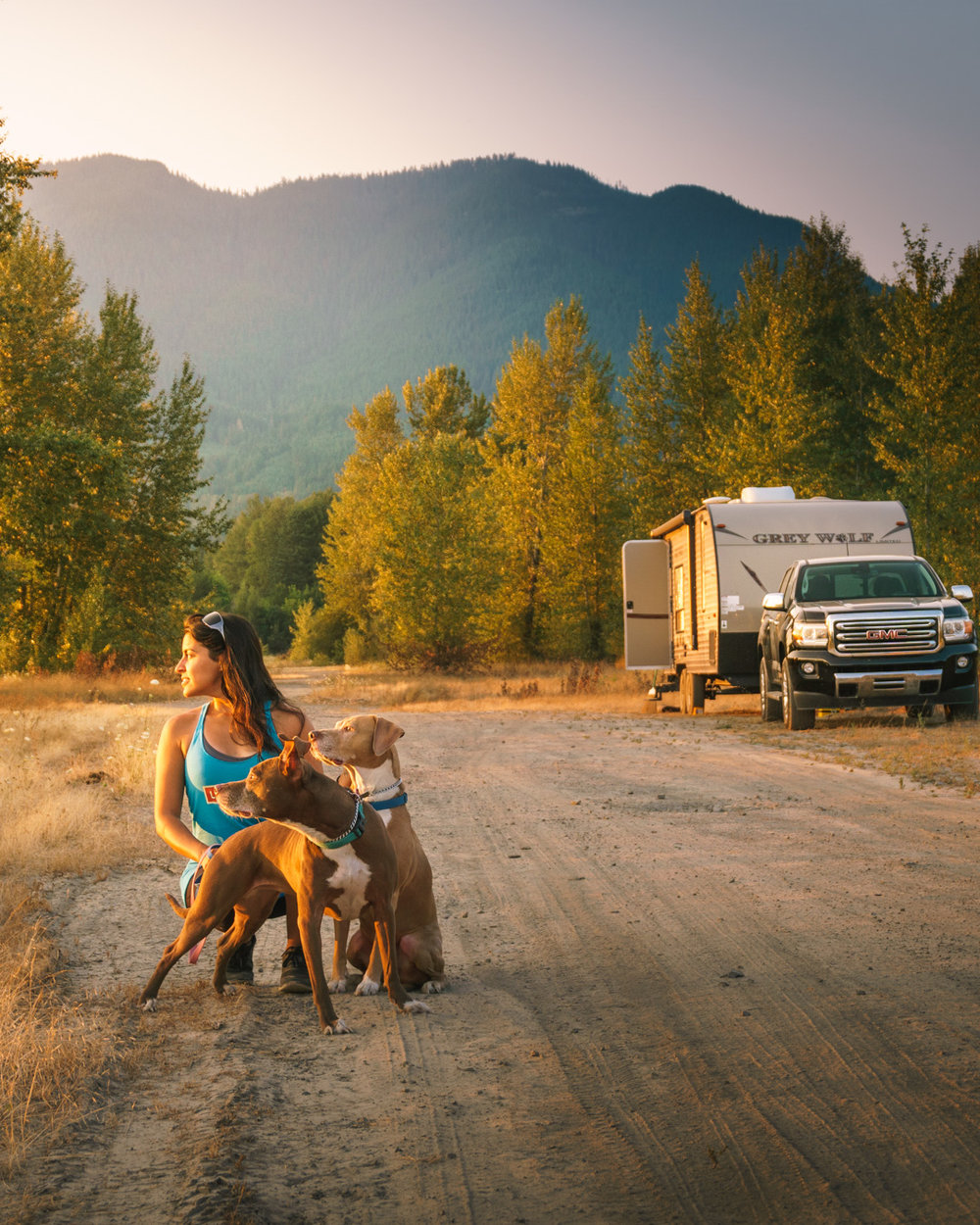 We had some amazing adventures in our Grey Wolf Travel Trailer. It did great on dusty, dirt roads.