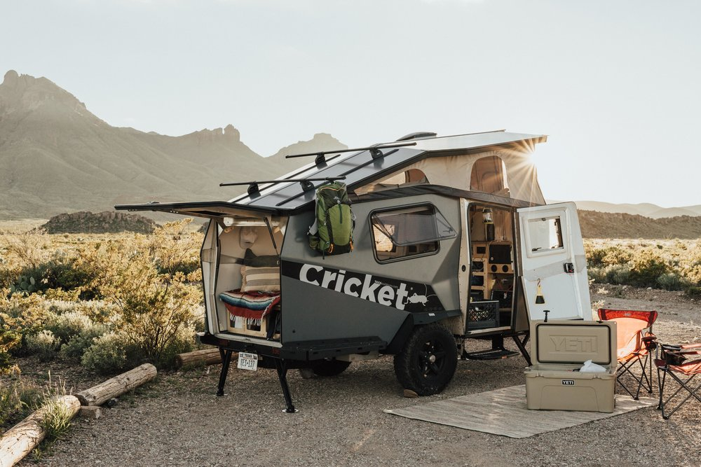The Cricket, TAXA Outdoor's very first Camper Trailer, is just perfect for off-grid adventures. We'd love to adventure around the PNW in this! (Credit: TAXA Outdoors)