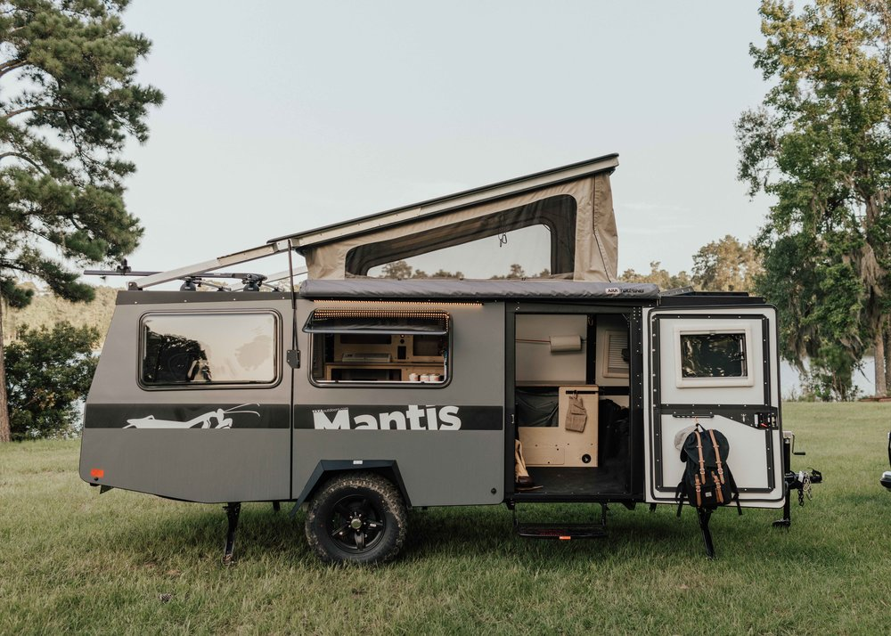 Both the Mantis and the Cricket fit in most regular garages! These are amazing camper options for anyone with limited space, or that doesn't own a truck. (Credit: TAXA Outdoors)