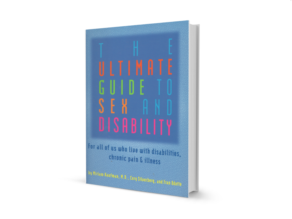 photo of the cover of the ultimate guide to sex and disability, a blue cover with the title on it.