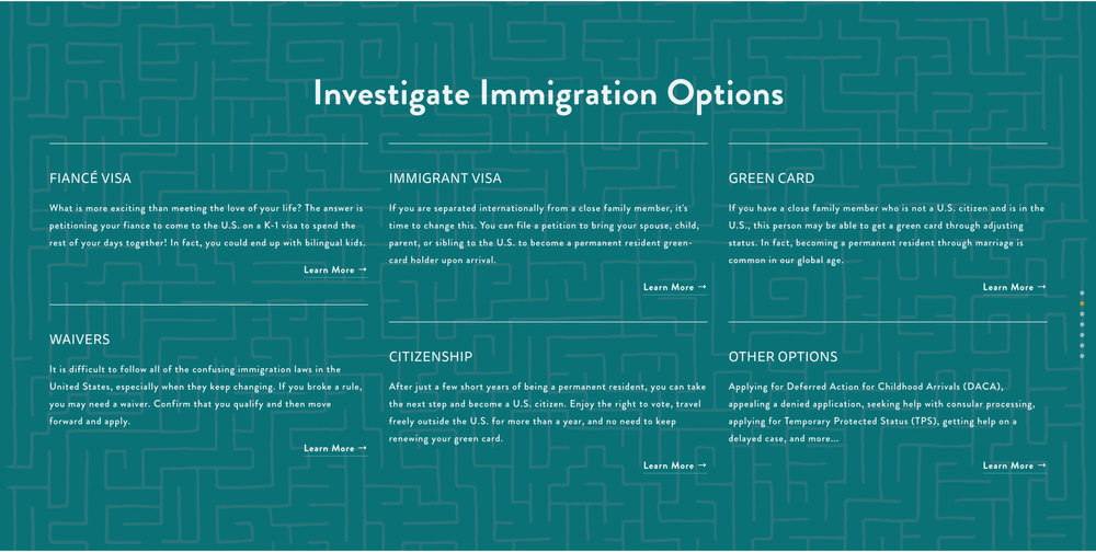 Custom Maze Graphic for Widman Immigration Law Firm - Sarah Moon + Co | sarahmoon.net