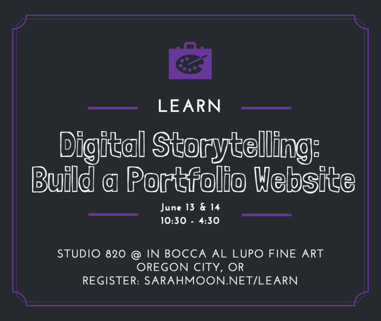 Learn to Build a Portfolio Website with Sarah Moon in Oregon City, Oregon