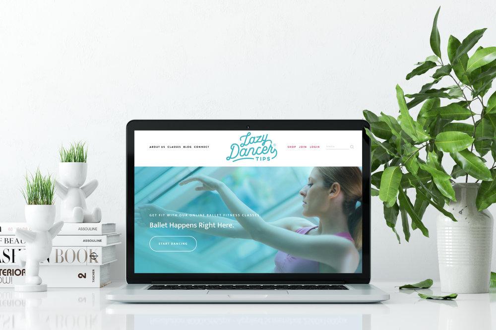 Lazy Dancer Tips Squarespace Website Design