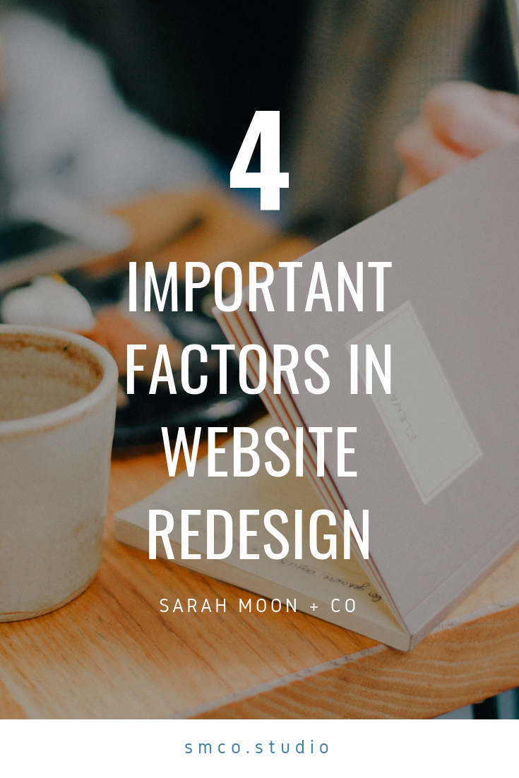 Four Factors in Redesigning Your WordPress or Squarespace Website