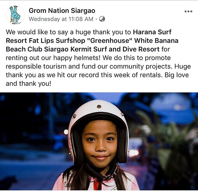 Well this makes us happy! Great initiative that no only helps the kids and community but also encourages more locals and tourists to wear helmets!