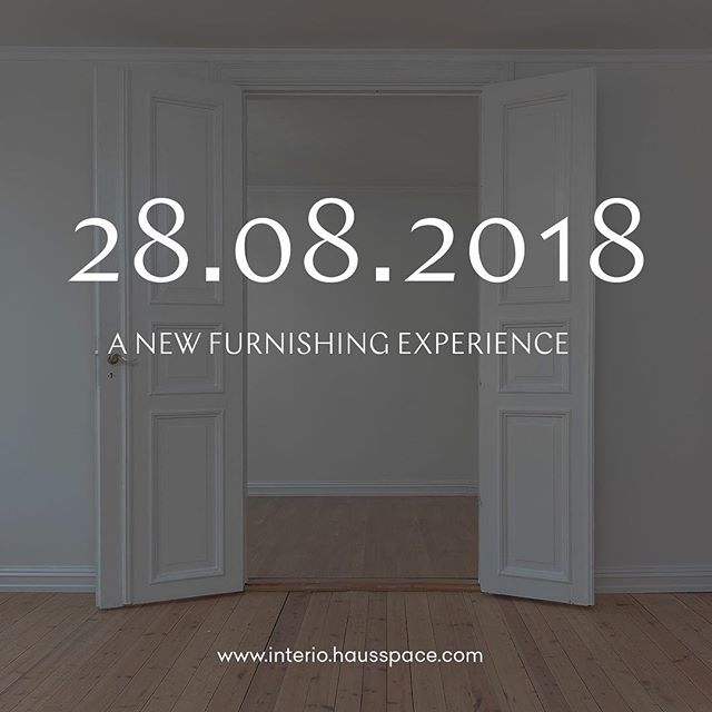 Don't know how to design your apartment? Well, we have a great announcement to make to make your life easier... #launch #hausspace #interiordesign #design @interio @migros let's do this ❤️