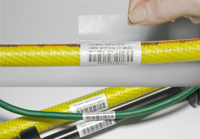 photo relating to Printable Wire Labels identified as RoMark Labels Restricted Printable Self-Laminating Cable Labels