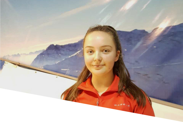 ski centre instructor rebecca power